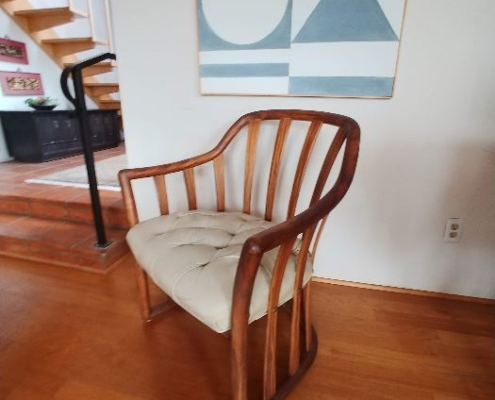 Estate Sales Antique Chair and Painting
