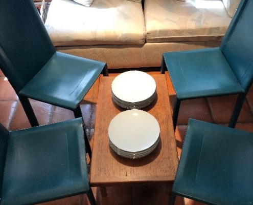 Chair and Plate Set Estate Sales