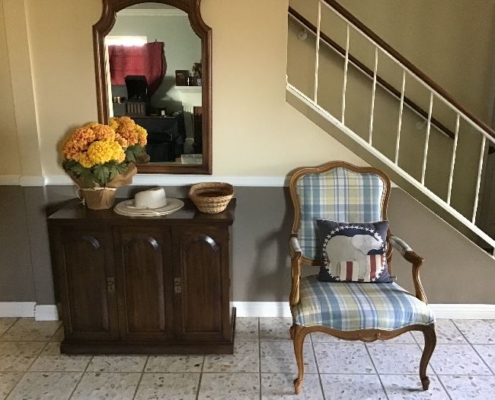 Estate Sales Antique Chair and Cabinet