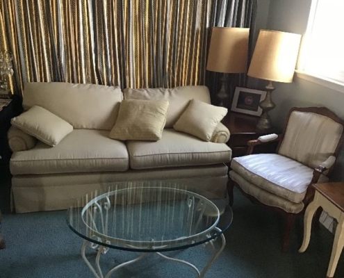 Estate Sales Couch Chair and Table